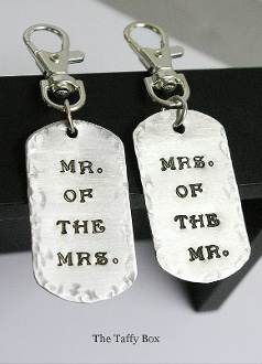 His and Hers Key chains/ luggage tags