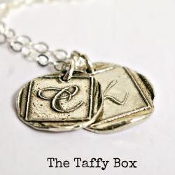 Fine Silver Monogram Wax Seal Pendant Necklace